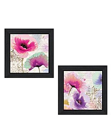 """Poppies Collection By Color Bakery, Printed Wall Art, Ready to hang, Black Frame, 30"""" x 15"""""""