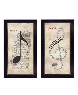 """Music Collection By Marla Rae, Printed Wall Art, Ready to hang, Black Frame, 22"""" x 20"""""""