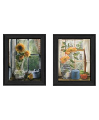 """Flowers Collection By Ed Wargo, Printed Wall Art, Ready to hang, Black Frame, 28"""" x 18"""""""