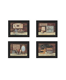 "Bathroom I Collection By Pam Britton, Printed Wall Art, Ready to hang, Black Frame, 13"" x 16"""