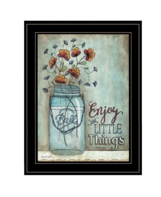 Enjoy the Little Things by Tonya Crawford, Ready to hang Framed Print, Black Frame, 15