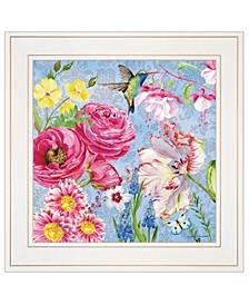 "Trendy Decor 4U English Garden II by Barb Tourtillotte, Ready to hang Framed Print, White Frame, 15"" x 15"""