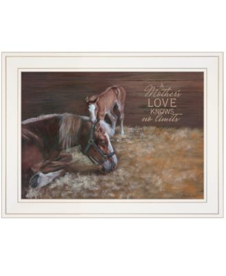 """A Mother Love Horses by Pam Britton, Ready to hang Framed Print, White Frame, 19"""" x 15"""""""