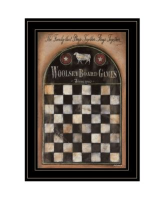 """Woolsey Board Game by Pam Britton, Ready to hang Framed Print, Black Frame, 15"""" x 21"""""""
