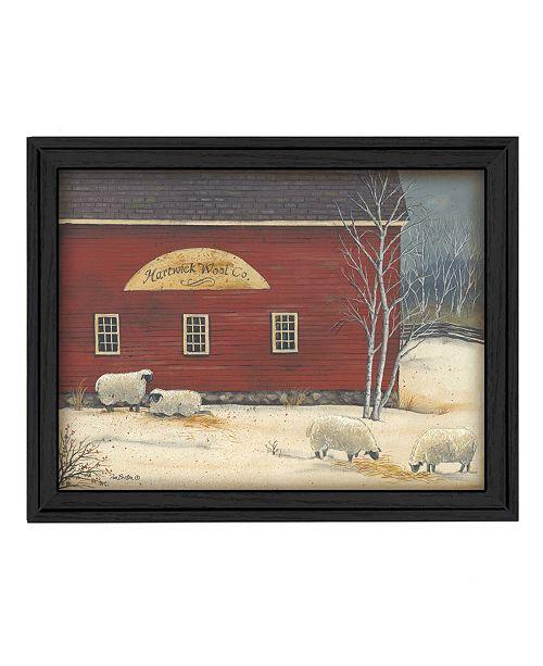 "Trendy Decor 4U Trendy Decor 4U Hartwick Wool Co By Pam Britton, Printed Wall Art, Ready to hang, Black Frame, 27"" x 21"""