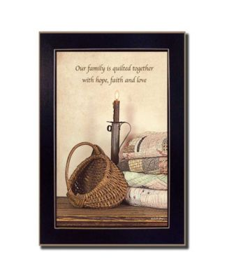 """Quilted Together By SUSAn Boyer, Printed Wall Art, Ready to hang, Black Frame, 14"""" x 10"""""""