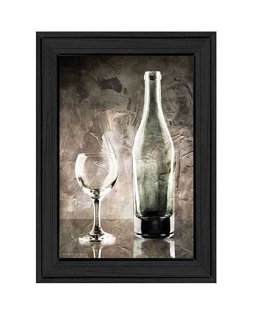 "Trendy Decor 4U Trendy Decor 4U Moody Gray Wine Glass Still Life by Bluebird Barn, Ready to hang Framed Print, Black Frame, 15"" x 19"""