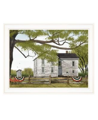 """Sweet Summertime House by Billy Jacobs, Ready to hang Framed Print, White Frame, 27"""" x 21"""""""