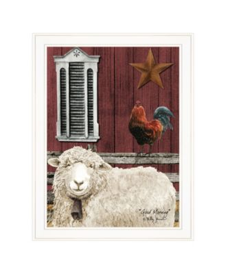 """Good Morning by Billy Jacobs, Ready to hang Framed Print, White Frame, 21"""" x 27"""""""
