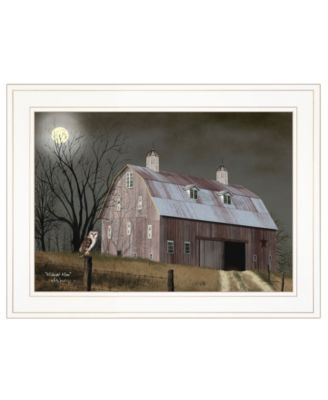 """Midnight Moon by Billy Jacobs, Ready to hang Framed Print, White Frame, 19"""" x 15"""""""