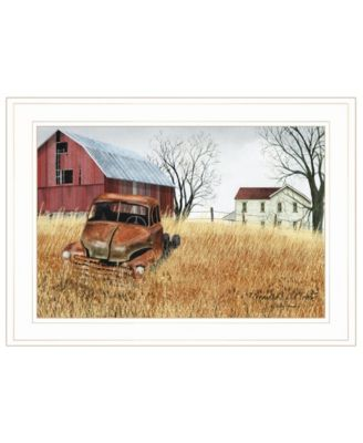 """Granddad's Old Truck by Billy Jacobs, Ready to hang Framed Print, White Frame, 21"""" x 15"""""""