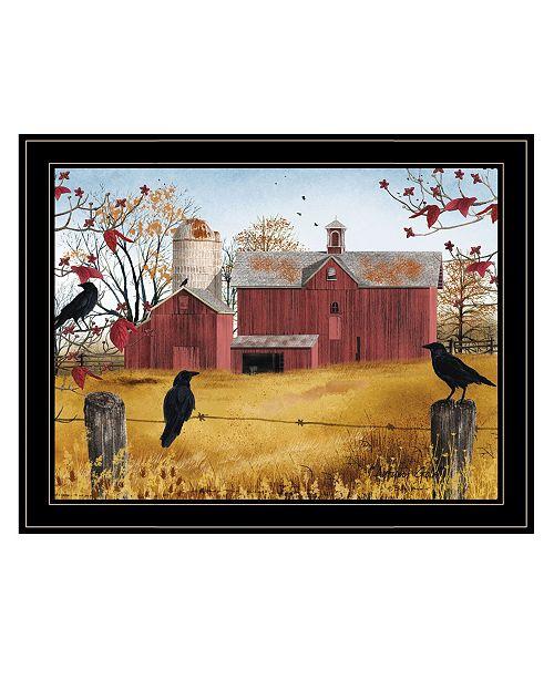"Trendy Decor 4U Trendy Decor 4U Autumn Gold by Billy Jacobs, Ready to hang Framed Print, Black Frame, 27"" x 21"""