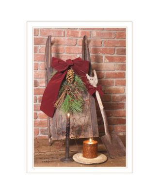"""Let Christmas Live by Billy Jacobs, Ready to hang Framed Print, White Frame, 23"""" x 33"""""""