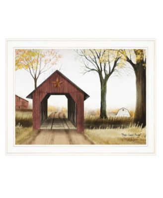 """Buck County Bridge by Billy Jacobs, Ready to hang Framed Print, White Frame, 27"""" x 21"""""""