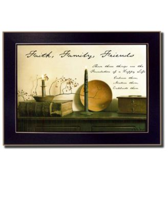 """Faith, Family and Friends By Billy Jacobs, Printed Wall Art, Ready to hang, Black Frame, 14"""" x 10"""""""