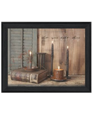 """Let Your Light Shine By Billy Jacobs, Printed Wall Art, Ready to hang, Black Frame, 27"""" x 21"""""""