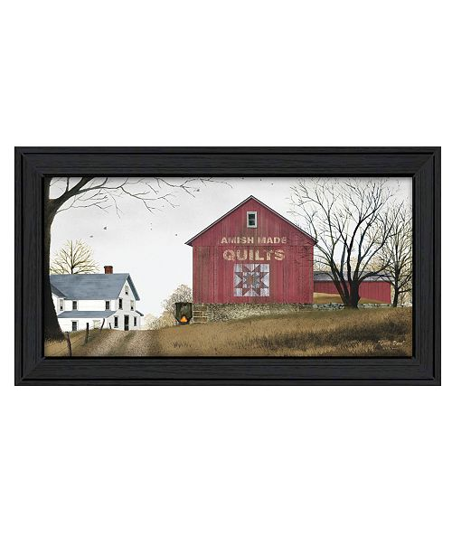 "Trendy Decor 4U Trendy Decor 4U The Quilt Barn By Billy Jacobs, Printed Wall Art, Ready to hang, Black Frame, 21"" x 12"""