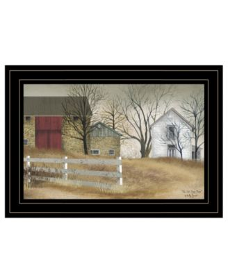 """The Old Stone Barn by Billy Jacobs, Ready to hang Framed Print, Black Frame, 15"""" x 11"""""""