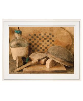 """Vintage-Like Apple Cider by Anthony Smith, Ready to hang Framed Print, White Frame, 19"""" x 15"""""""