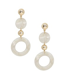 Soft Focus Resin Circle Drop Earrings