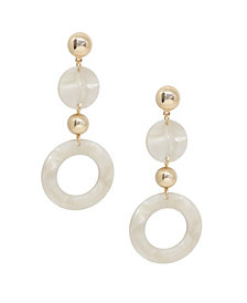ETTIKA Soft Focus Resin Circle Drop Earrings