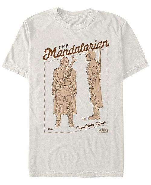 Star Wars Men's Mandalorian Toy Action Figure T-shirt