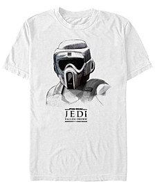 Men's Jedi Fallen Order Scout Trooper Mask Sketch T-shirt