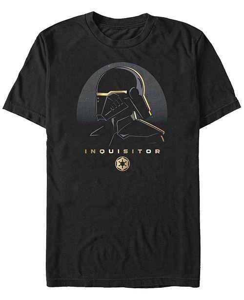 Star Wars Men's Jedi Fallen Order Gold-Tone Trim Inquisitor T-shirt
