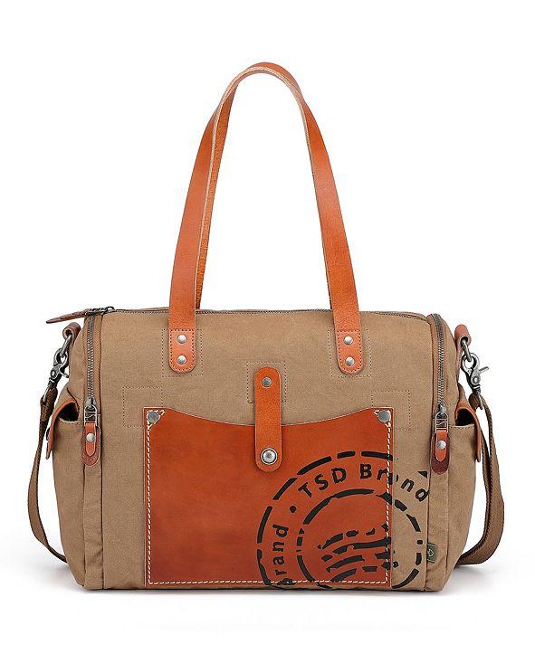 TSD BRAND Super Horse Canvas Satchel Bag