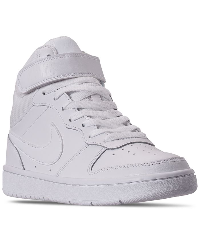 Nike - Big Boys Court Borough Mid 2 Casual Sneakers from Finish Line