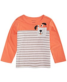 Baby Boys Dog-Print Pocket T-Shirt, Created For Macy's