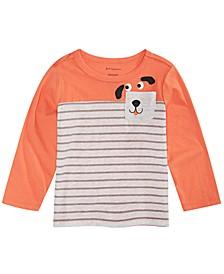Toddler Boys Dog-Print Pocket T-Shirt, Created For Macy's
