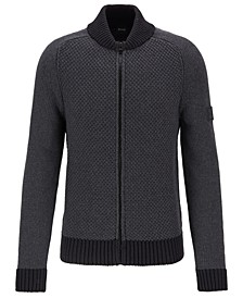 BOSS Men's Karessi Cotton-Blend Knitted Jacket
