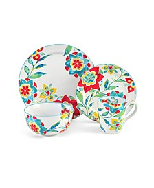 CLOSEOUT! Floral Medallion 4 pc Place Setting, Service for 1