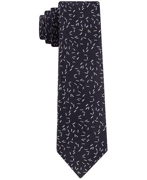 Calvin Klein Men's Skinny Scattered Dashes Tie