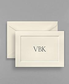 Masterpiece Personalized Polished Embossed Panel Ecru Note Folder