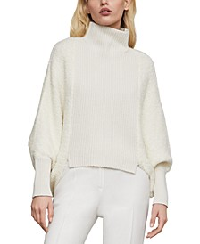 Juliette-Sleeve Turtleneck Sweater