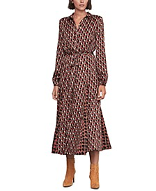 Geo-Print Shirtdress