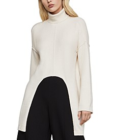 Cutout-Hem Turtleneck Sweater