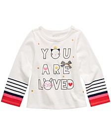 Baby Girls Cotton Long-Sleeve Graphic-Print T-Shirt, Created for Macy's