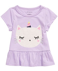 Baby Girls Caticorn-Print Cotton T-Shirt, Created For Macy's