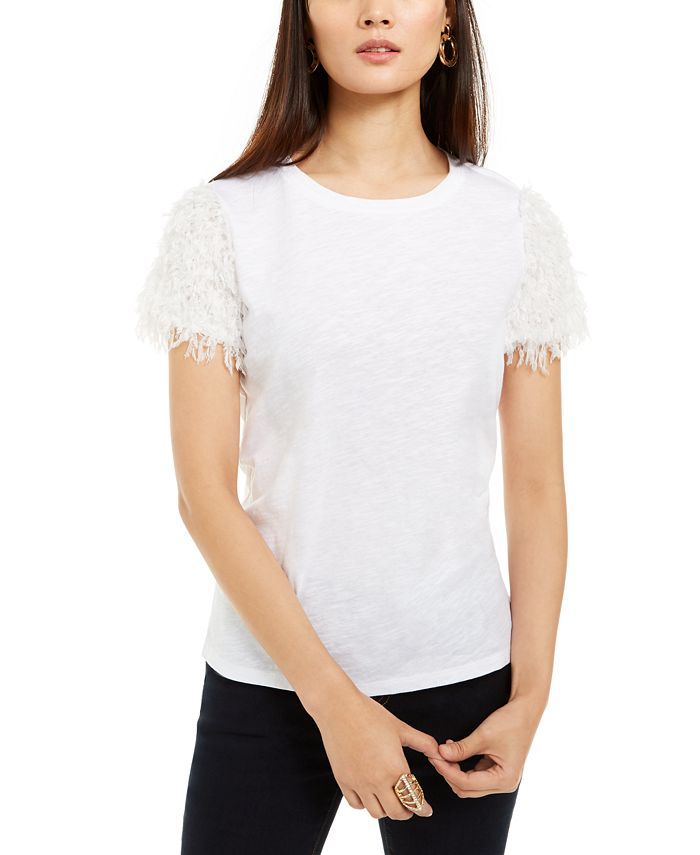INC International Concepts - Feather-Sleeve T-Shirt