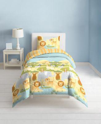 Safari Animals 2-Piece Twin Comforter Set