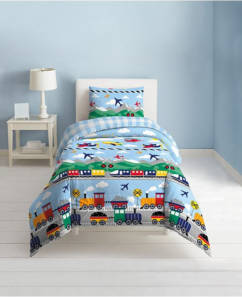 Dream Factory Trains and Planes Comforter Sets