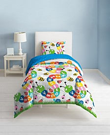 Alphabet Friends 3-Piece Full/Queen Comforter Set