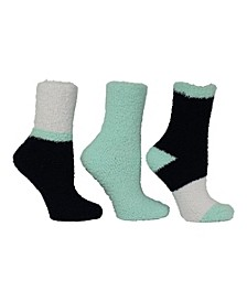 Women's 3 Pack Colorblock Cozy Socks, Online Only