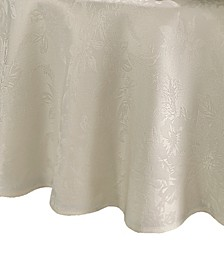 Elrene Poinsettia Jacquard Holiday Tablecloth - 90""