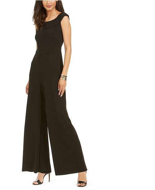 Connected Petite Wide Leg Jumpsuit