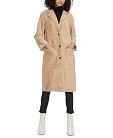 Soft Touch Faux-Fur Duster Coat
