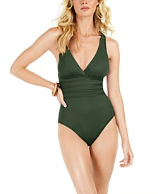 Island Goddess Tummy-Control Strappy One-Piece Swimsuit